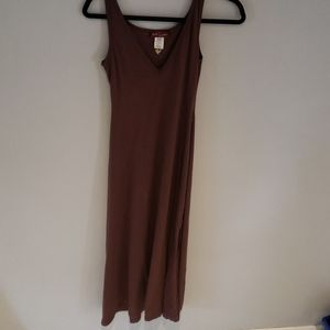90s BABY PHAT brown slit dress